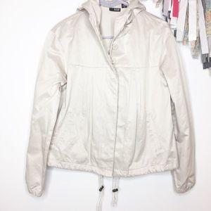 NWOT a.n.a. Cropped swing jacket coat Beige tan